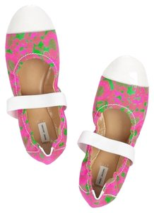 Marc Jacobs Flat Neon Fashion Lace and patent-leather ballet flats Flats