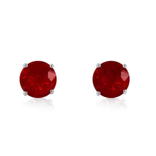 Other 0.95 CT 14k Solid Rose Gold & Ruby Stud Earrings