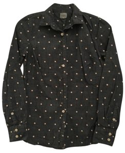 J.Crew Demin Polka Dot Long Sleeve Button Down Shirt Denim