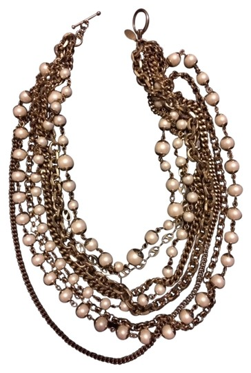 Ann Taylor Ann Taylor Pearl and Chain stranded necklace