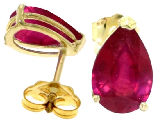 Other 3.5 CT 14k Solid Yellow Gold & Ruby Stud Earrings