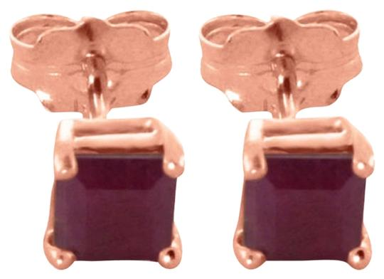 Other 0.8 CT 14K Solid Rose Gold & Ruby Stud Earrings