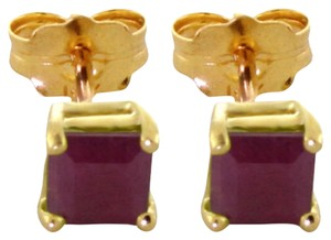Other 0.8 CT 14K Solid Yellow Gold & Ruby Stud Earrings
