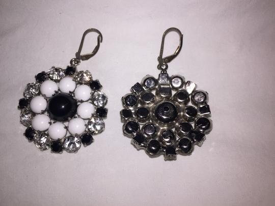 Other Vintage Black, White and Rhnestone Earrings