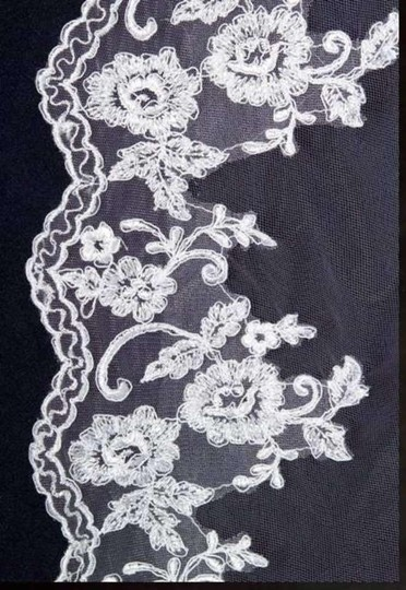 J.L. Johnson Bridals Chapel Length Alencon Lace Mantilla Veil