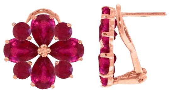Other 4.85 CT 14K Solid Rose Gold & Ruby French Clips Earrings