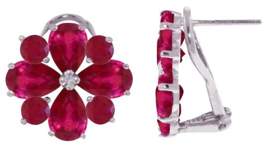 Other 4.85 CT 14K Solid White Gold & Ruby French Clips Earrings