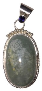 Other Vintage Sterling Silver and Stone Necklace Pendant