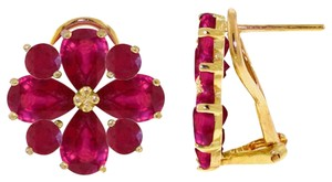 Other 4.85 CT 14K Solid Yellow Gold & Ruby French Clips Earrings