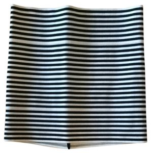 Pleasure Doing Business Skirt Black And White Striped