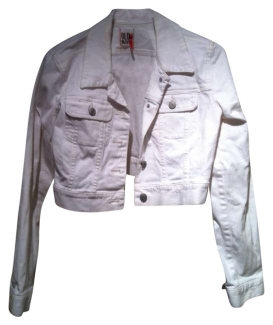 Old Navy Denim Crop Denim White Womens Jean Jacket