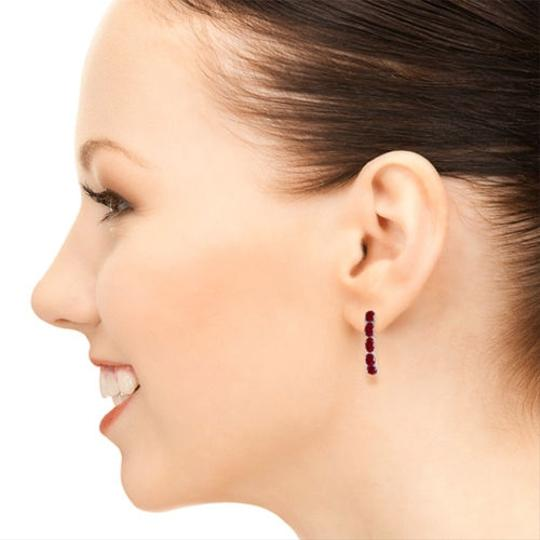 Other 2.5 CT 14K Solid White Gold & Rubies Stud Earrings