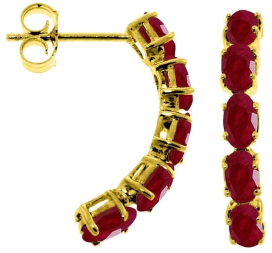 Other 2.5 CT 14K Solid Yellow Gold & Rubies Stud Earrings
