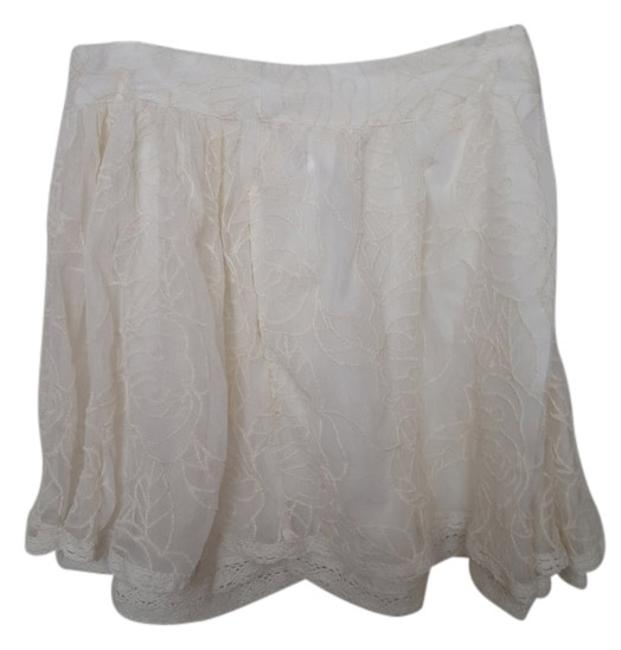 Free People Mini Skirt Ivory