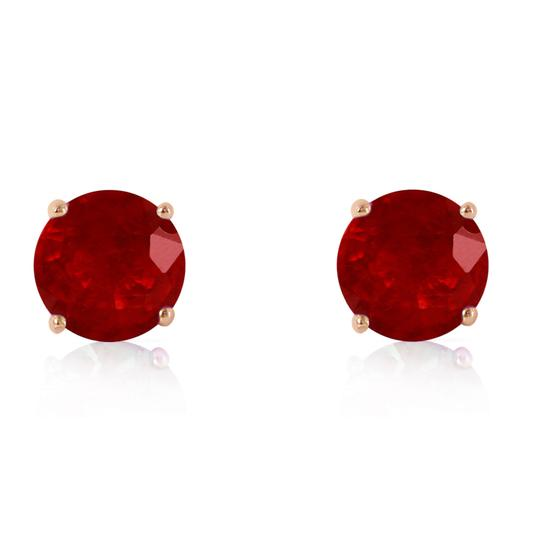 Other 4.5 CT 14K Solid Rose Gold & Ruby Stud Earrings