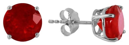 Other 4.5 CT 14K Solid White Gold & Ruby Stud Earrings