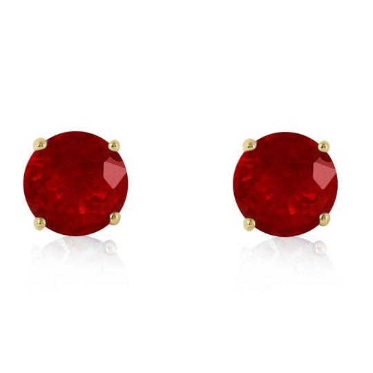 Other 4.5 CT 14K Solid Yellow Gold & Ruby Stud Earrings
