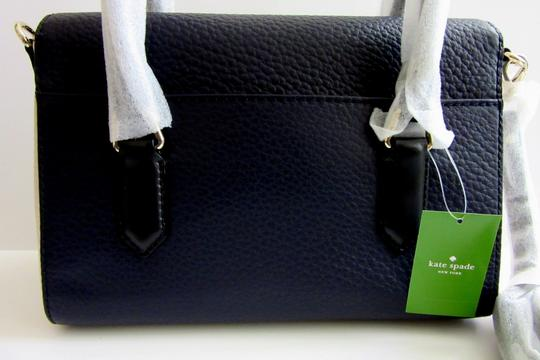 Kate Spade Colorblock Grove Court Leslie Crossbody Satchel in Navy Blue