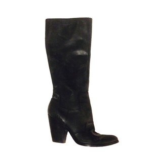 Nine West Casual Boot Knee High Leather black Boots