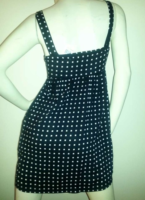 BeBop short dress Black with white polka 'squares' on Tradesy