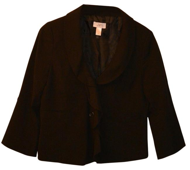 Preload https://item1.tradesy.com/images/ann-taylor-loft-ann-taylor-loft-cropped-black-blazer-with-ruffle-detail-34-sleeve-3403210-0-0.jpg?width=400&height=650