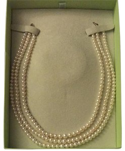 Ross-Simons 14k Three Strand Genuine Saltwater Pearl Necklace