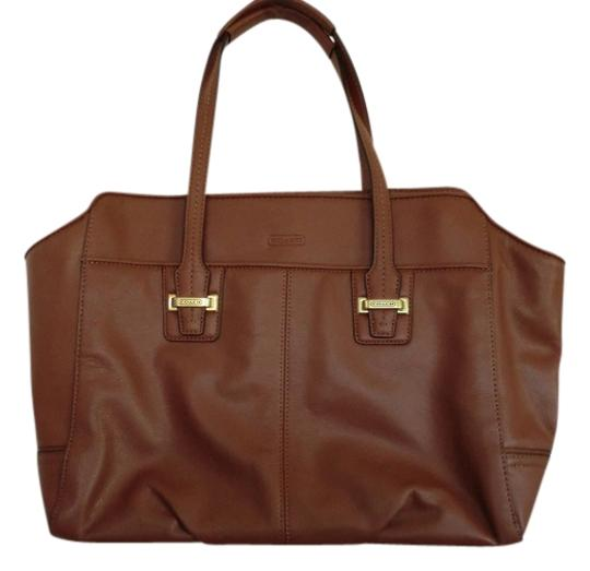 Coach Leather Carryall Satchel in Brown
