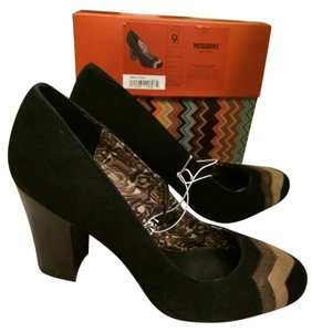 Missoni for Target Heels Suede Brand New Black Brown Tan Pumps