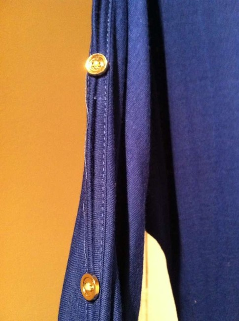 Other short dress blue Pockets Gold Buttons Cotton on Tradesy