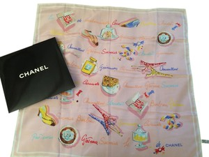 Chanel Chanel Pink Paris Scarf