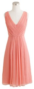 J.Crew Bridesmaid Silk Chiffon Dress