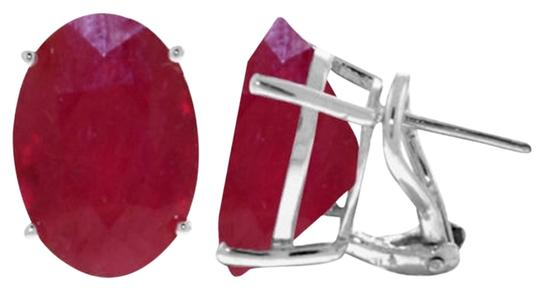 Other 15 CT 14K Solid White Gold Ruby French Clip Earrings