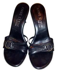Anne Klein Leather Black Sandals