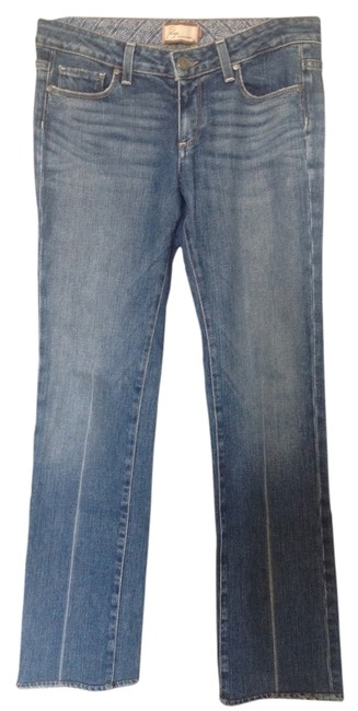 Paige Straight Leg Jeans-Medium Wash