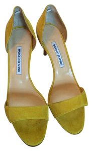 Manolo Blahnik Canary yellow Sandals