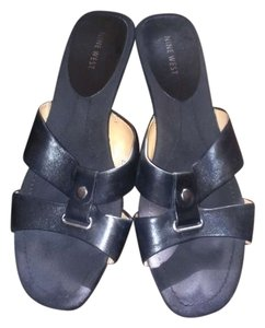 Nine West Sandals Black Wedges