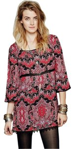 Free People short dress Red Paisley Square neck on Tradesy