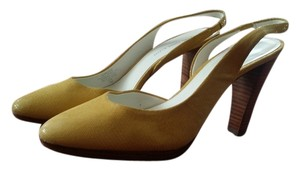 AK Anne Klein YELLOW Mules