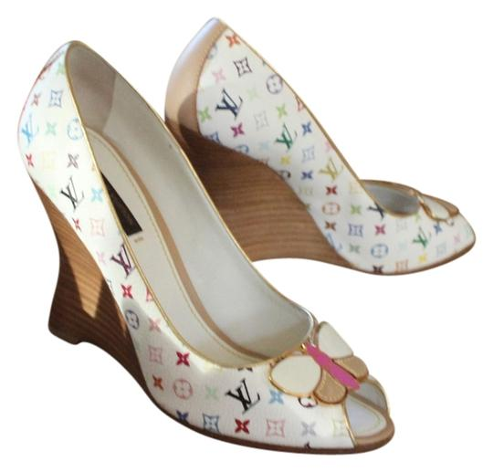 Preload https://item5.tradesy.com/images/louis-vuitton-multicolor-white-and-lv-monogram-peep-toe-wedges-pumps-size-us-75-regular-m-b-3405739-0-0.jpg?width=440&height=440