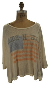 Chaser Boho Rocker Concert T Shirt Off White