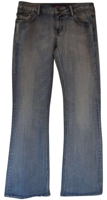 Chip and Pepper Denim Straight Wide Flare Leg Jeans-Light Wash