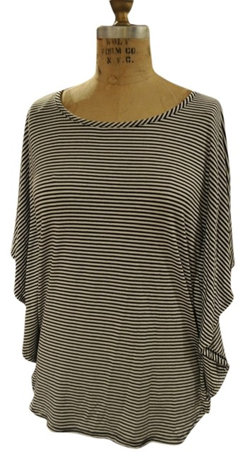 Preload https://item1.tradesy.com/images/red-haute-black-and-white-stripe-tee-shirt-size-8-m-3405820-0-0.jpg?width=400&height=650