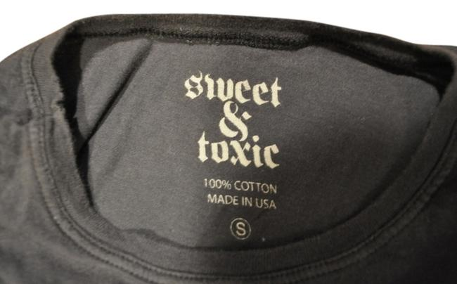 Sweet & Toxic T Shirt Faded Black Graphic