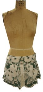 Blue Plate Boho Bohemian Mini Skirt White, Green, Black