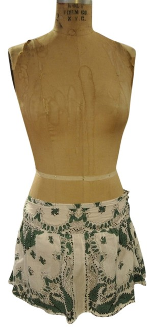 Item - White Green Black Boho Bohemian Skirt Size 8 (M, 29, 30)