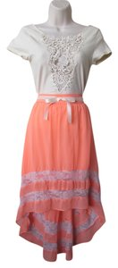 Other Soft Comfortable Casual Maxi Skirt Coral