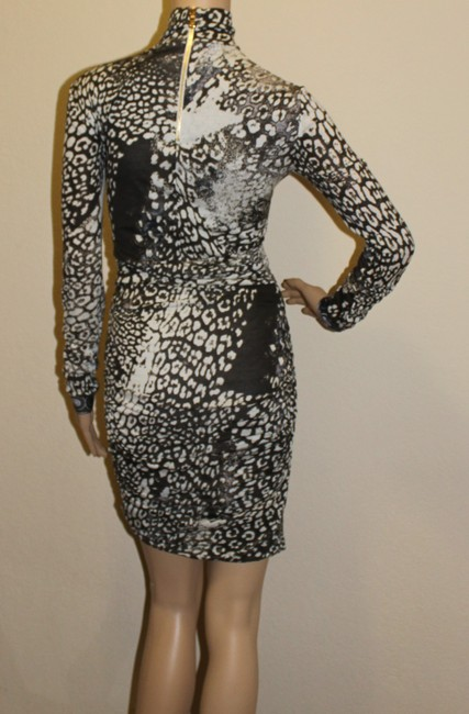 Emilio Pucci Animal Print Leopard Longsleeve Gold Hardware Wool Dress