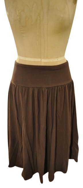 Preload https://img-static.tradesy.com/item/3406255/james-perse-brown-knee-length-skirt-size-8-m-29-30-0-0-650-650.jpg