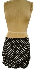 Alice + Olivia Polka Dot Mini Mini Skirt Black & White