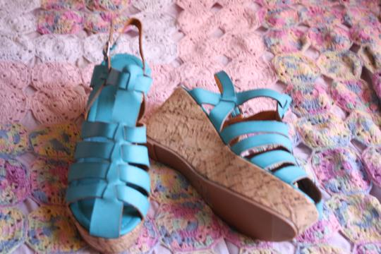 Other Turquoise - Beige Sandals